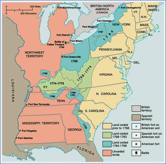 HISTORY OF THE AMERICAN WESTOnline - Treaty of paris map